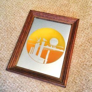 Other - Vintage Mirror Art. Circa 1960s/70s.
